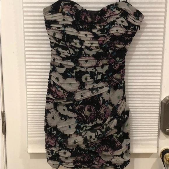 BCBGMaxAzria Dresses & Skirts - BCBG Maxazria floral strapless dress